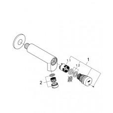 Смеситель для раковины, вентиль автоматический Grohe EUROECO Cosmopolitan T, 36266000