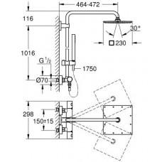 Душевая система с термостатом GROHE Euphoria XXL 230, 26187000