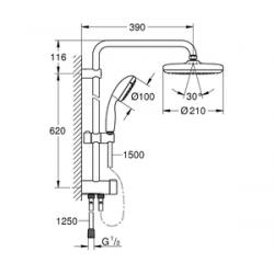 Душевая система Grohe New Tempesta System 210, 26381001