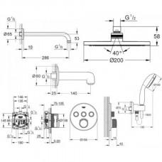 Grohe Набор GRT SmartControl для душа  скрытого монтажа круглый 3461402L