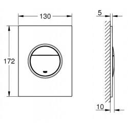 Кнопка смыва для инсталляции Grohe Nova Cosmopolitan S, 37601SH0