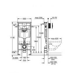 Инсталляционная система Grohe Rapid SL, 38722001