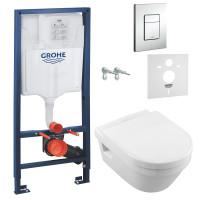 Комплект: Инсталляционная система Grohe Rapid SL 38772001  + подвесной унитаз V&B Omnia architec