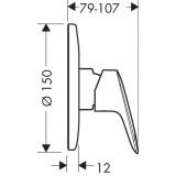 Набор скрытого монтажа с гигиенической лейкой Hansgrohe Logis, 1112019 (71666000+27454000+32127000)