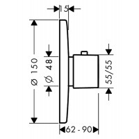 Внешняя часть смесителя для душа Hansgrohe Metris Highflow, 31571000