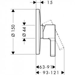 Внешняя часть смесителя для душа Hansgrohe Metris S, 31665000