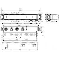 Скрытая часть для смесителя на 2 потребителя Hansgrohe RainSelect, 15310180