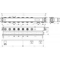Скрытая часть для смесителя на 5 потребителей Hansgrohe RainSelect, 15313180