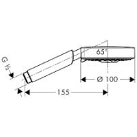 Ручной душ Hansgrohe Raindance S 100 Air 3jet EcoSmart, 28552000