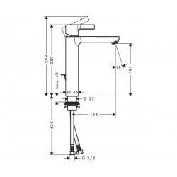 Смеситель для раковины Hansgrohe Metris S, 31021000