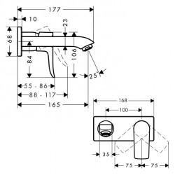 Смеситель для раковины Hansgrohe Metris, 31085000