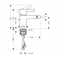 Смеситель для биде Hansgrohe Metris S, 31261000