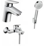 Набор смесителей для ванны 3 в 1 Hansgrohe Logis 70, 710714310N