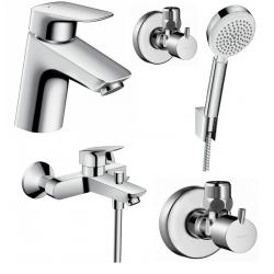 Набор смесителей для ванны 4 в 1 Hansgrohe Logis 70, 710714410N