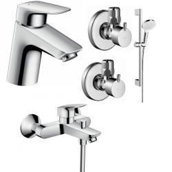 Набор смесителей для ванны 4 в 1 Hansgrohe Logis 70, 710714411N