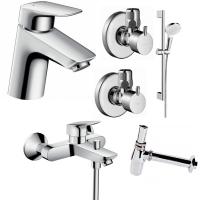 Набор смесителей для ванны 5 в 1 Hansgrohe Logis 70, 710714511N