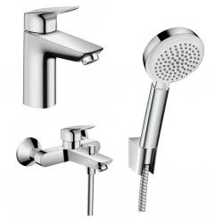 Набор смесителей для ванны 3 в 1 Hansgrohe Logis 100, 711714310