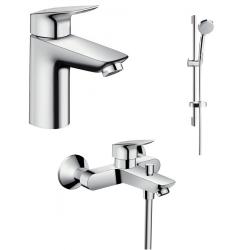 Набор смесителей для ванны 3 в 1 Hansgrohe Logis 100, 711714311