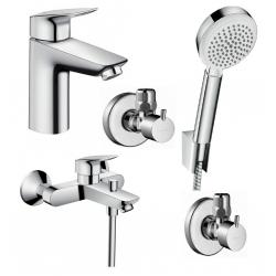 Набор смесителей для ванны 4 в 1 Hansgrohe Logis 100, 711714410