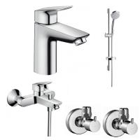 Набор смесителей для ванны 4 в 1 Hansgrohe Logis 100, 711714411