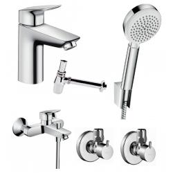 Набор смесителей для ванны 5 в 1 Hansgrohe Logis 100, 711714510