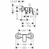 Набор смесителей Hansgrohe Logis 70, 710716311N