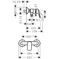Набор смесителей для душа Hansgrohe Logis 100 20190002 (71100000+71600000+26553400)