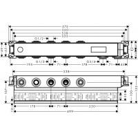 Скрытая часть для смесителя на 3 потребителя Hansgrohe RainSelect, 15311180