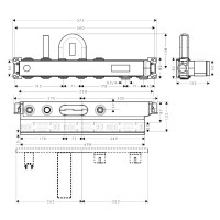 Скрытая часть для смесителя Hansgrohe RainSelect, 15314180