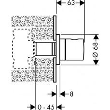 Вентиль для скрытого монтажа Hansgrohe S, 15972000
