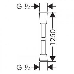 Душевой шланг Hansgrohe Comfortflex 125 см 28167000