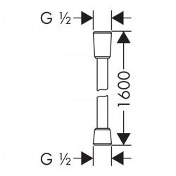 Душевой шланг Hansgrohe Comfortflex, 160 см, 28168000