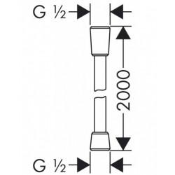 Душевой шланг Hansgrohe Comfortflex 200 см 28169000
