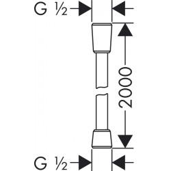 Душевой шланг Hansgrohe Isiflex, 200 см, 28274000