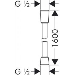 Душевой шланг Hansgrohe Isiflex, 160 см, 28276000