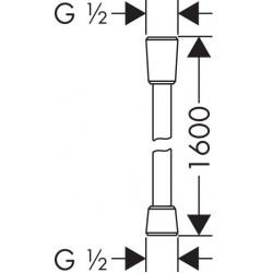 Душевой шланг,HANSGROHE ISIFLEX, 160 см, 28276800