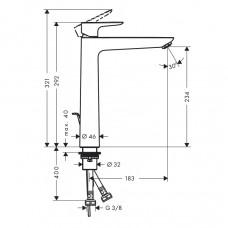 Смеситель для раковины однорычажный Hansgrohe Talis E, 71716000