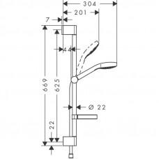 Душевой набор Hansgrohe Croma Select S Vario 26566400