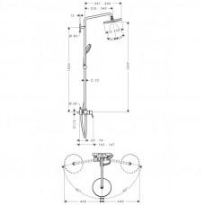 Душевая система Hansgrohe Croma 220 Showerpipe 27222000