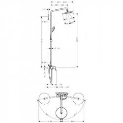 Душевая система Hansgrohe Croma 220 Showerpipes 27222000