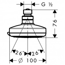 Верхний душ Hansgrohe Croma 100 Vario 27441000