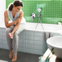 Ручной душ Hansgrohe Crometta 100 цв  белый/хром 26825400