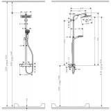Душевая система с термостатом Hansgrohe Crometta E 240, 27271000