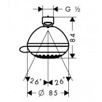Верхний душ Hansgrohe Crometta 85 Vario  28424000