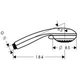Ручной душ Hansgrohe Crometta 85 1jet, 28585000