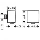 Шланговое подсоединение Hansgrohe Fixfit Square (26455670)