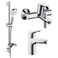 Набор смесителей для ванны Hansgrohe Focus, 1092019 (31607000+31940000+26553400)