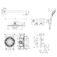 Душевой набор скрытого монтажа HANSGROHE Focus 1182019