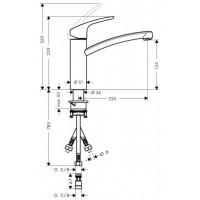 Смеситель для кухни однорычажный Hansgrohe Focus E2 31804000