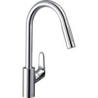 Смеситель для кухни однорычажный  с выдвижным душем Hansgrohe Focus 31815000